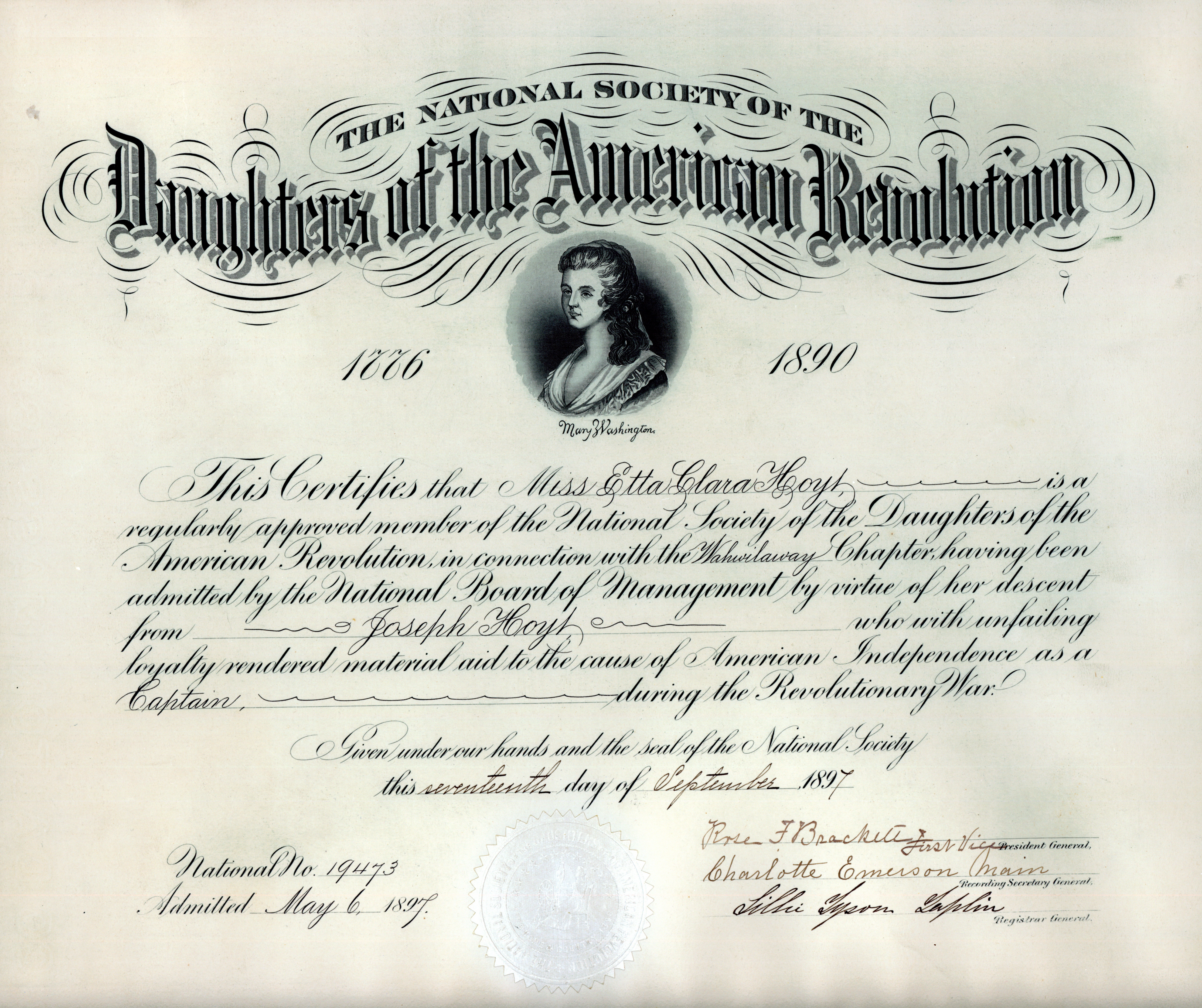daughters of the american revolution The national society of the daughters of the american revolution (or nsdar)  was founded in 1890 headquartered in washington dc, the dar is a volunteer .